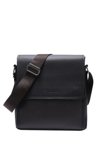Lucky JX brown PU Leather Messenger Bag A6F84AC4693201GS_1