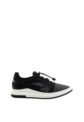 SEMBONIA black Men Microfiber Sneaker 18311SH7A7D59BGS_1