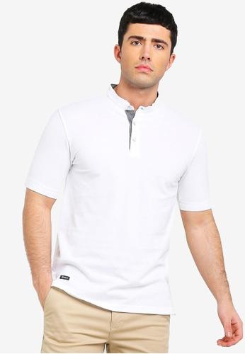 43a94f47f Buy UniqTee Mandarin Collar Short Sleeve Polo Shirt Online on ZALORA  Singapore