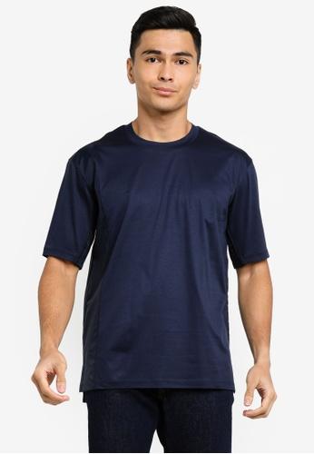 ck Calvin Klein navy PIMA COTTON TOP WITH RIPSTOP A2679AAFA25C46GS_1