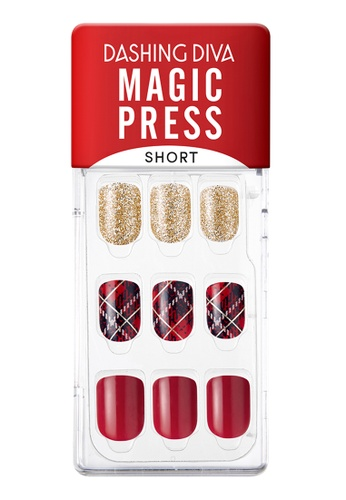 Dashing Diva red Dashing Diva 1 SEC. MAGIC PRESS Manicure(Short Size) Surprise Me / Press on Nails /Nail Tips DFFCFBE6872493GS_1
