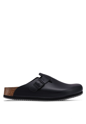 Birkenstock black Boston Natural Leather Sandals 42C12SHD9A7C9BGS_1