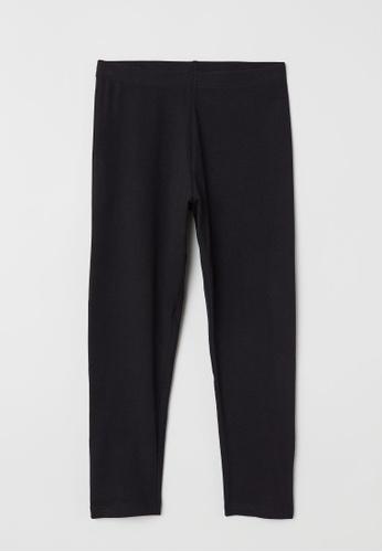 H&M black 3/4-length leggings B24CAAAE676F74GS_1
