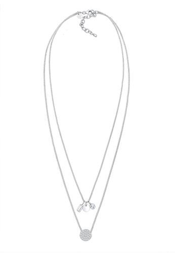 ELLI GERMANY silver Elli Germany Necklace Layer Geo Topaz Gemstone Sterling Silver 118B0ACBBEF51DGS_1