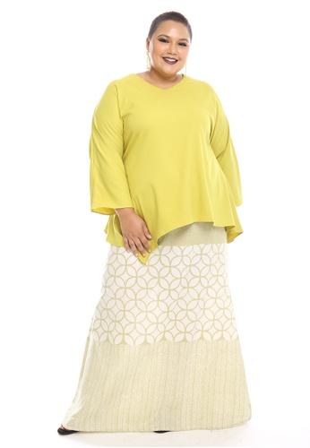 Seri Modern Kurung Batik from PLUMERIA in Yellow and Green