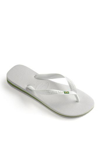 Havaianas white Havaianas Brasil Flip Flops 28518SHC1146B6GS_1