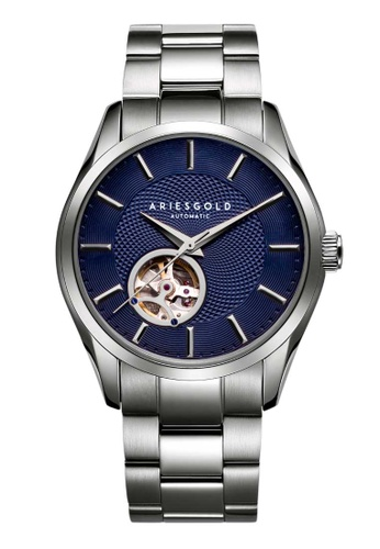 Aries Gold blue Aries Gold Inspira Blue and Silver Stainless Steel Watch 13B6FACEF0993BGS_1