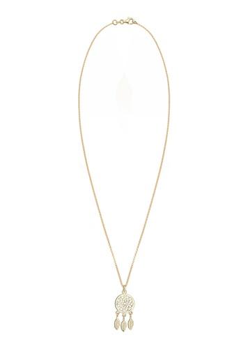 Elli Germany gold Gold Plated Dreamcatcher Necklace EL474AC0RFHFMY_1