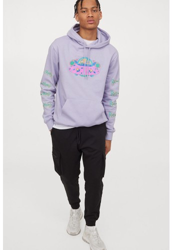 H&M purple Regular Fit Hoodie FB134AA738A2C7GS_1