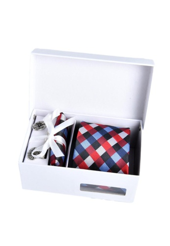 Kings Collection blue Tie, Pocket Square, Cufflinks, Tie Clip 4 Pieces Gift Set (KCBT2065) 5EC61ACBF05A1CGS_1