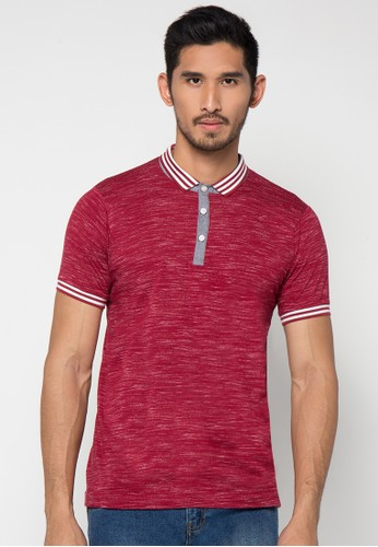 H&R red Solid Tuton Shirt HR579AA48XGHID_1