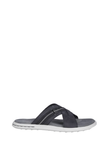 Hush Puppies Sandal Pria Visco Cross - Black