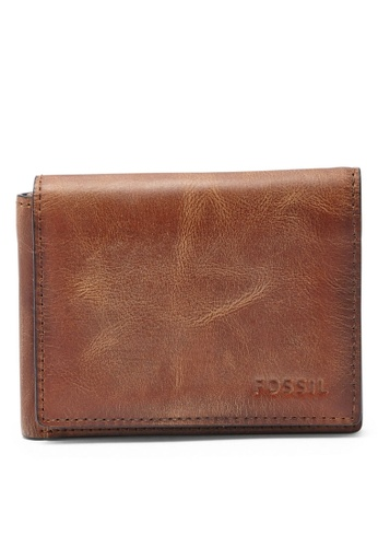 Fossil brown Fossil Trifold ML3700200 Wallet FO313AC15ILOSG_1