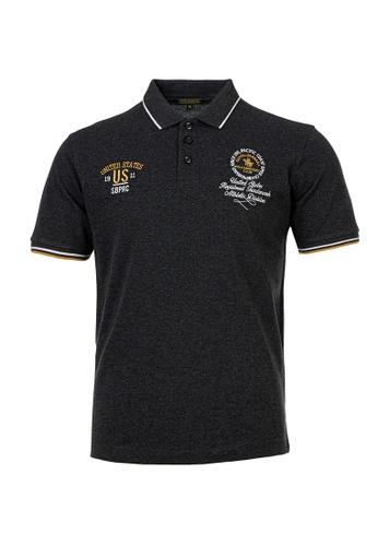 Santa Barbara Polo & Racquet Club grey SBPRC Regular Polo Shirt 10-9311-08 4117EAA670BFA3GS_1