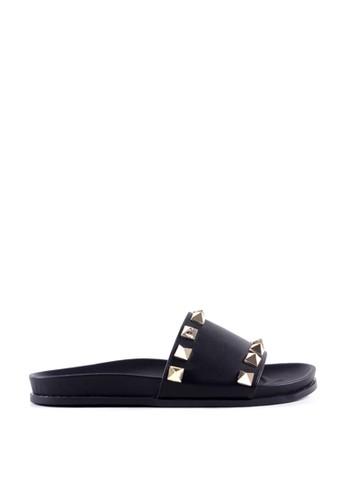 MINKA black KYLA Black Stud Sandal 5EE44SH8659479GS_1