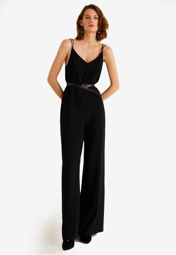 Mango black Wrap Long Jumpsuit 5AC66AAE037FF6GS_1