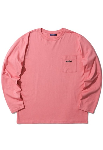 BLOCKAIT pink Logo pocket tee D23B8AA79416CFGS_1