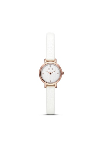 ELLE white ELLE Marigny Two-Hand White Leather Watch ELL21045 1BA7CAC7962A5CGS_1