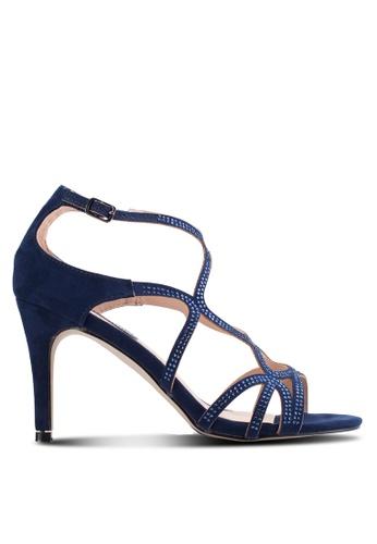 Dorothy Perkins navy Navy 'Rebekah' Gem Swirl Heel Sandals DO816SH33QCGMY_1