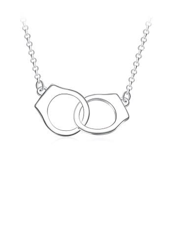 Glamorousky silver Simple Handcuff Necklace C682DACCE27E25GS_1