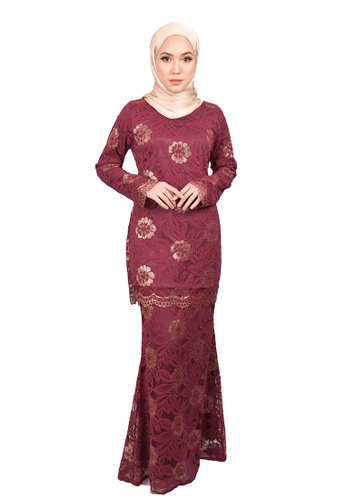 FATIMÉ red and pink and gold Lace Rossa Foil (Red) 04847AAD3F1179GS_1