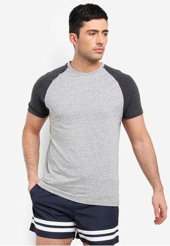 Brave Soul multi and grey Raglan Sleeve T-Shirt 7DF49AA3E26C23GS_1