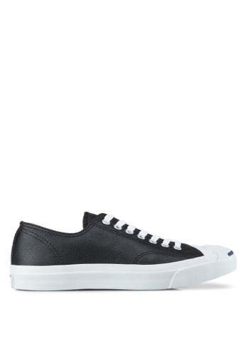 759ed457f45ae7 Converse black Jack Purcell Leather Ox Unisex Sneakers CO302SH32BMXSG 1