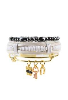 Pack of 3 Bracelets - Owl Charm Stack