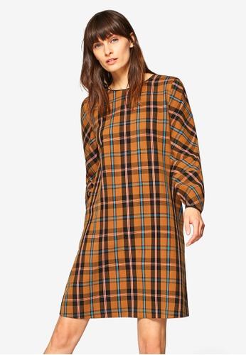 ESPRIT brown Woven Mini Dress 23DFEAA1DC9947GS_1