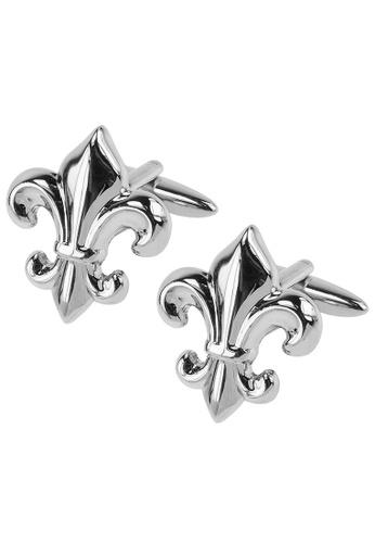 CUFF IT silver Silver Fleur De Lis Cufflinks 87287AC74DD6CAGS_1