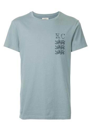 Kent and Curwen blue Logo Print T-shirt B482FAAFF2F3E9GS_1