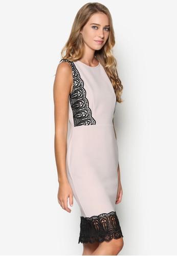 Petitesprit台灣網頁e 蕾絲拼接羅紋連身裙, 服飾, 服飾