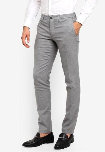 MANGO Man 灰色 修身長褲 DE358AAE28D175GS_1