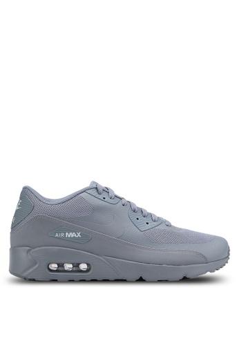 Nike grey Men's Air Max 90 Ultra 2.0 Essential Shoes NI126SH0RH5NMY_1