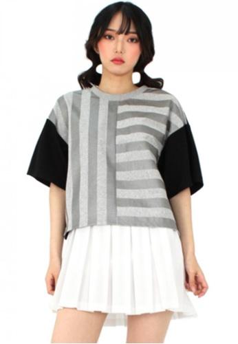 A X A multi Stripe T shirt AX230AA85CDASG_1