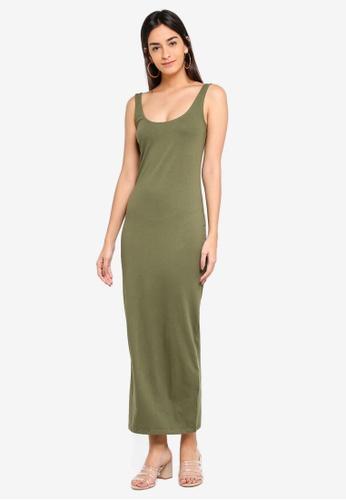 Supre green Basic Maxi Dress 98B3EAAC464F4EGS_1