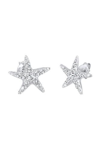 Elli Germany silver Silver Starfish Earrings With Swarovski® Crystals EL474AC0RFH5MY_1