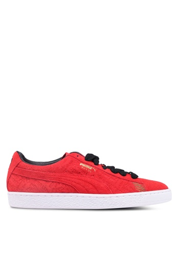 Puma Select red Suede Classic Berlin Shoes C3F35SHDA6FCC8GS_1