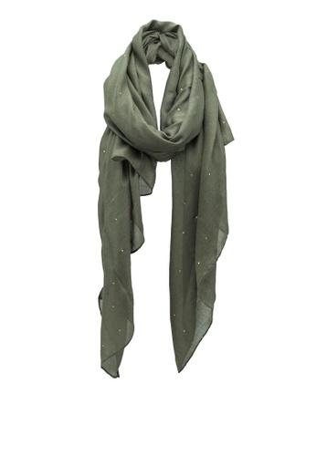 Pieces green Dimolade Long Scarf E65D9AC620945EGS_1