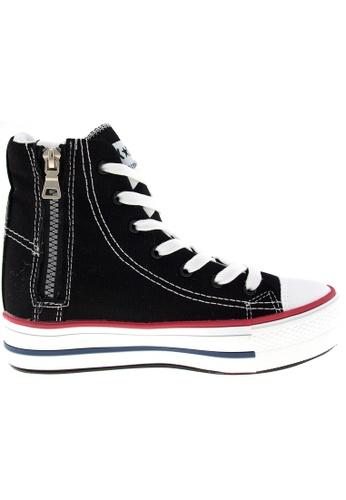 Maxstar black Maxstar Women's C7 7 Holes Lines Hidden Heel Platform Canvas Sneakers US Women Size MA164SH79PYYSG_1