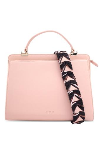 VINCCI pink Top Handle Bag 7BAE4AC647D41EGS_1