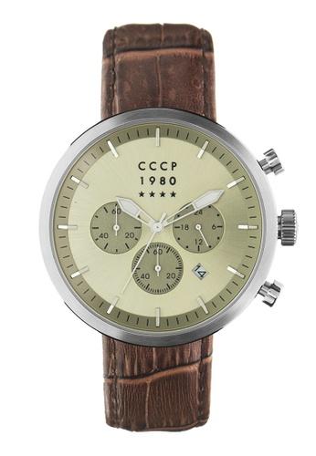 CCCP brown CCCP Men's Brown Genuine Leather Watch - CP-7007-0A D9E2CACA9FA0ECGS_1