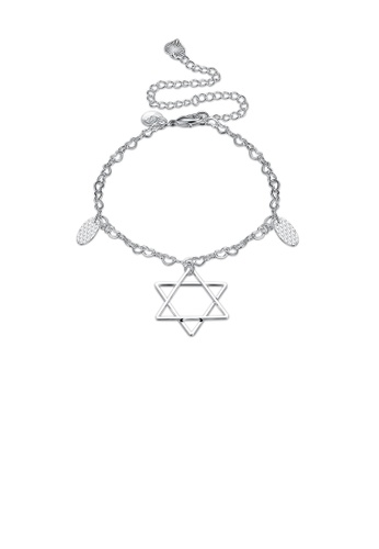 Glamorousky silver Simple Fashion Hollow Star Anklet 72587AC845B44FGS_1