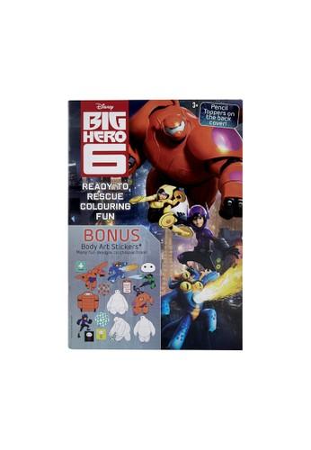 Disney black Big Hero 6 Ready to Rescue Colouring Fun  Book : Colouring & Sticker 2888ETH558271FGS_1