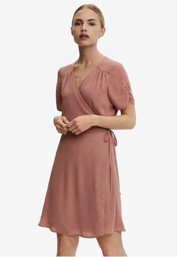 Vero Moda pink Wrap Mini Dress 249A2AA33277C3GS_1