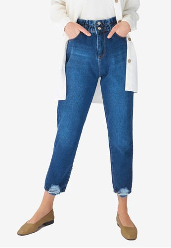 Trendyol blue Modest High Waist Mom Jeans 6F569AAB6E8580GS_1
