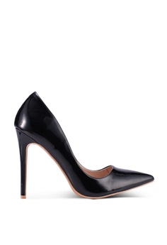94ed61188452c MISSGUIDED black Entry Patent Court Heels 078DDSHBF571FCGS_1