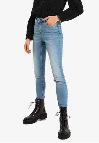 PIMKIE blue Mid Waist Skinny Jeans F3BD3AA8877ABFGS_1