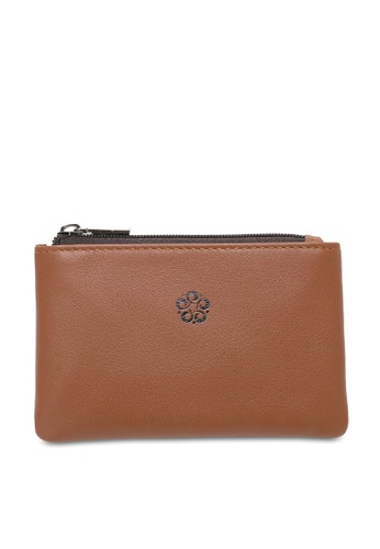 Wild Channel brown RFID Coin/Card Pouch 2C4F3AC91F75C5GS_1