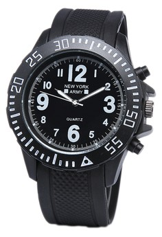 Newyork Army Men's NYA8801 Rubber Strap Watch